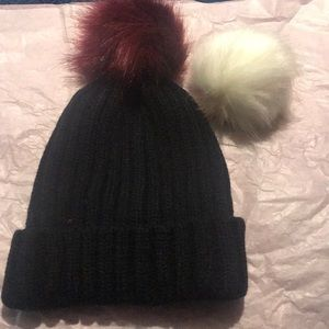 Accessories - Interchangeable Snap On & Off Pom Pom Hat